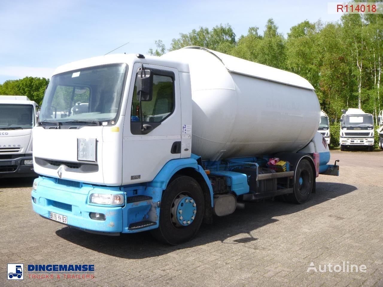 autocisterna na prepravu plynu RENAULT Premium 270 4x2 gas tank 19.7 m3