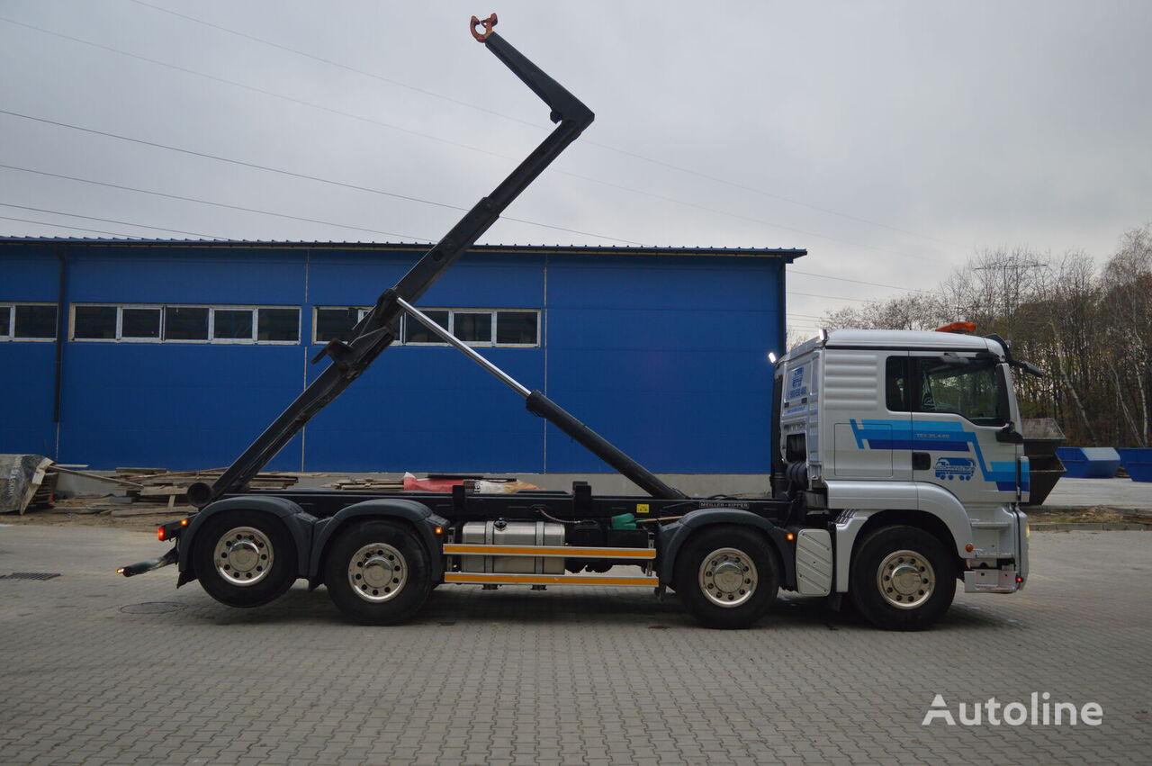 hákový nosič kontajnerov MAN TGS 35.440 HAKOWIEC MEILLER RK 20.70 EURO5 EEV 8x2