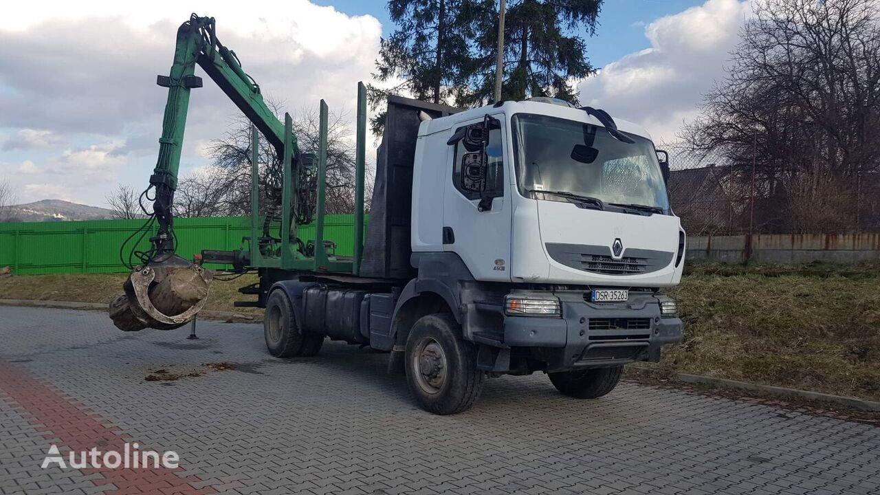 nákladné auto na prepravu dreva RENAULT Kerax 4x4 do transportu drewna