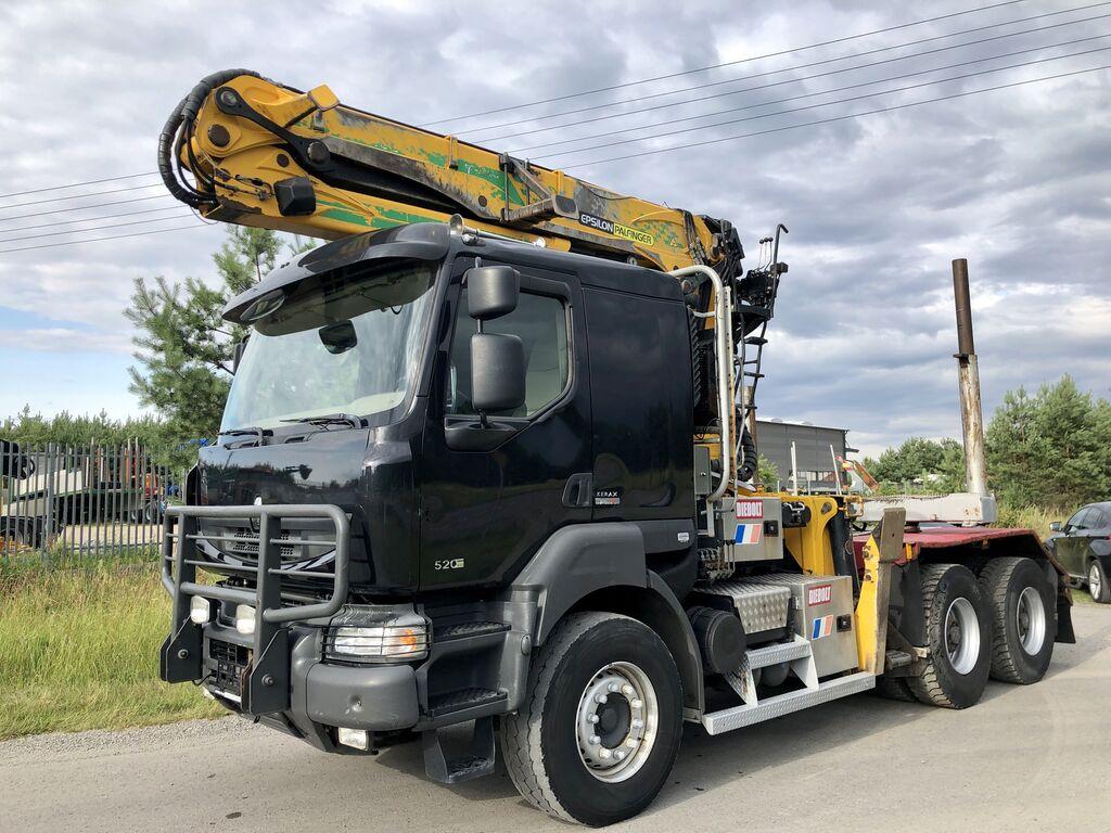 nákladné auto na prepravu dreva RENAULT Kerax DXi 520KM