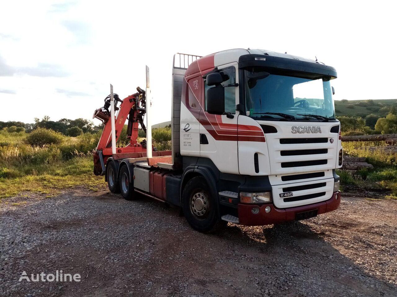nákladné auto na prepravu dreva SCANIA R