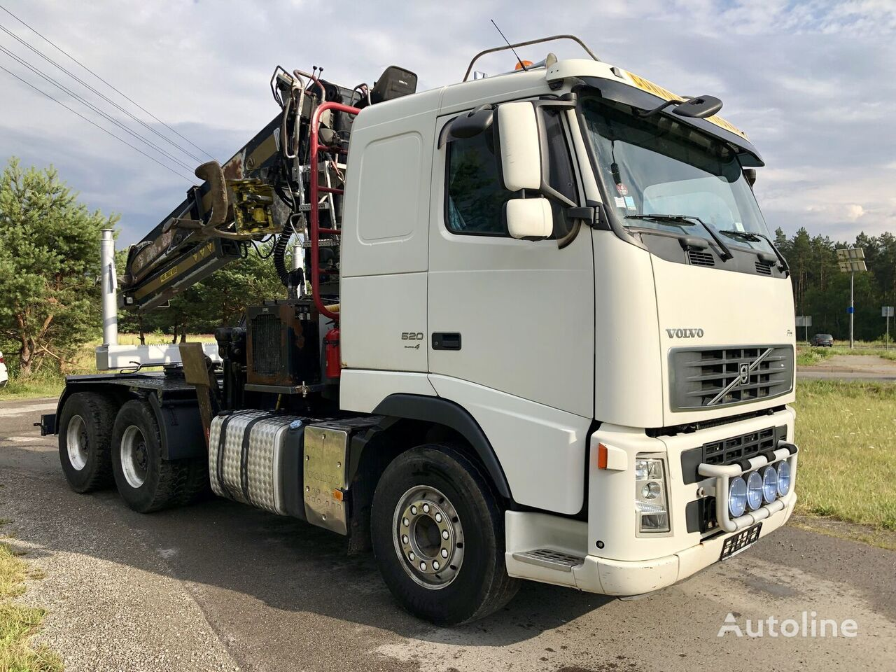 nákladné auto na prepravu dreva VOLVO FH 13 Dzwig Diebolt do Drewna Sprowadzony
