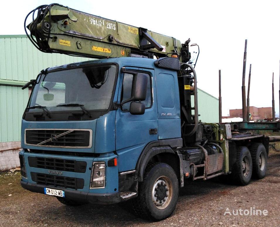 nákladné auto na prepravu dreva VOLVO FM 480 6x6 for wood transport