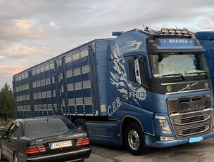 nákladné auto na prepravu zvierat VOLVO TOP FH13 540-EURO 6 -4 level Jumbo PLAVAC
