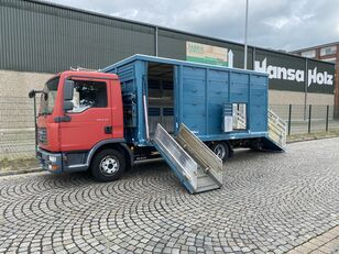 nákladné auto na prepravu zvierat MAN TGL 8.210 BL  Menke , 2 x AHK , TOP,  Tier, Viehtransporter