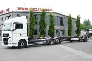 nákladné auto podvozok MAN TGX 26.480 XLX , E6 , BDF SET + Krone Trailer BDF + príves podvozok
