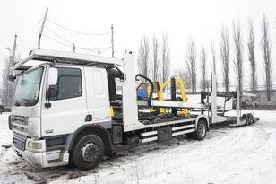 nákladné vozidlo na prepravu automobilov DAF CF 75 360 , E5 , 4x2 ,MEGA , LOHR , retarder , sleep cab + príves na prepravu automobilov