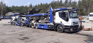 nákladné vozidlo na prepravu automobilov IVECO + príves na prepravu automobilov