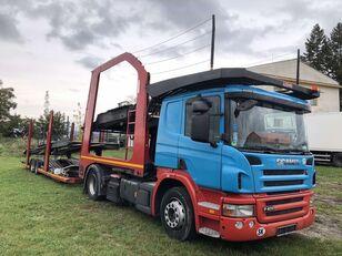 nákladné vozidlo na prepravu automobilov SCANIA P400 + príves na prepravu automobilov