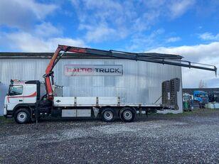 nákladné vozidlo na prepravu automobilov VOLVO FM400, 6x2 + CRANE + HYDRAULIC RAMPS