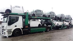 nákladné vozidlo na prepravu automobilov IVECO STRALIS 450 + príves na prepravu automobilov