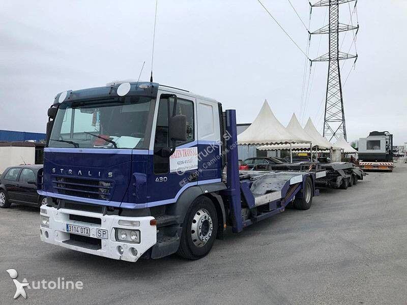 nákladné vozidlo na prepravu automobilov IVECO Stralis + príves na prepravu automobilov