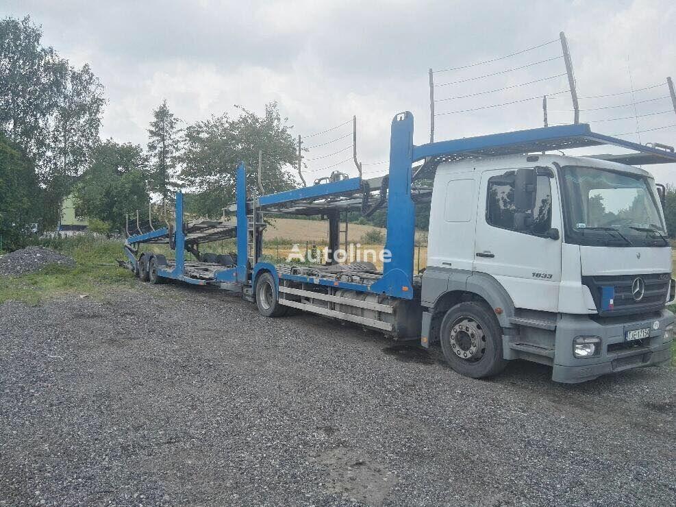 nákladné vozidlo na prepravu automobilov MERCEDES-BENZ Axor 1833 + príves na prepravu automobilov