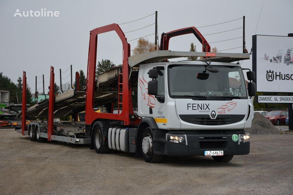 nákladné vozidlo na prepravu automobilov RENAULT PREMIUM 460 + príves na prepravu automobilov