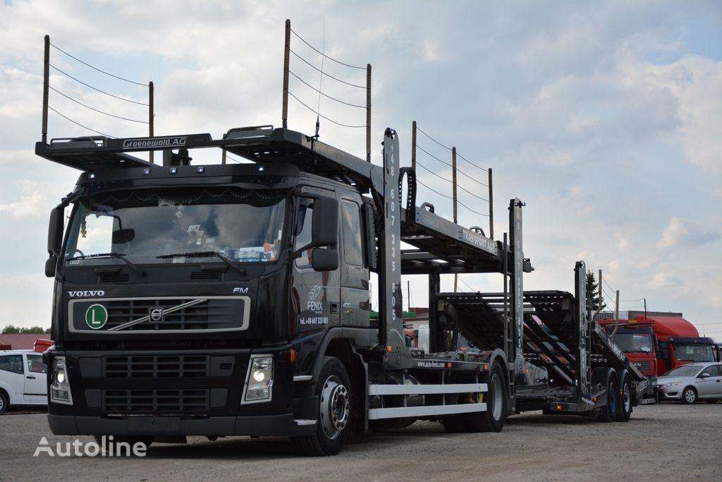 nákladné vozidlo na prepravu automobilov VOLVO FM 400 + príves na prepravu automobilov