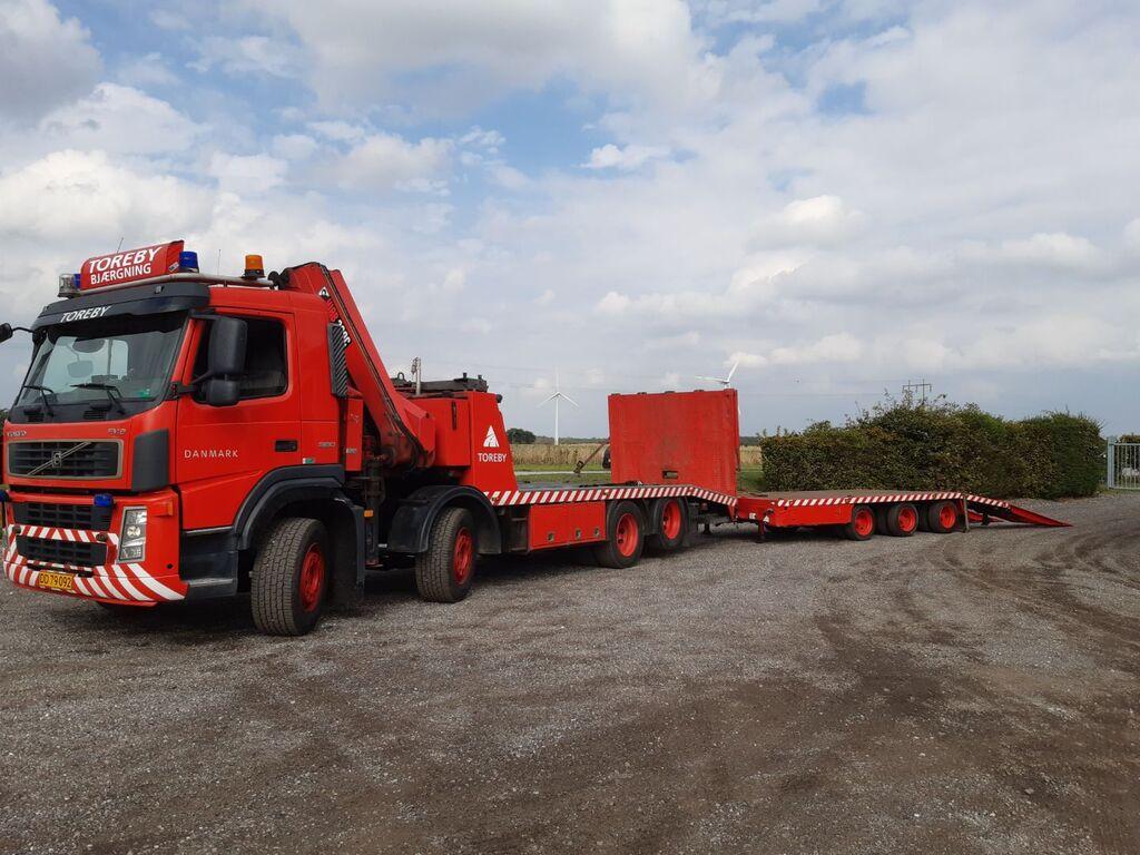 nákladné vozidlo na prepravu automobilov VOLVO FM9 + príves na prepravu automobilov
