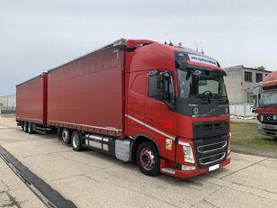 nákladne vozidlo s posuvnou plachtou VOLVO FH-500 GLOBE XL  6X2 JUMBOZUG 120m³ DOPPELSTOCK + príves s bočnou plachtou