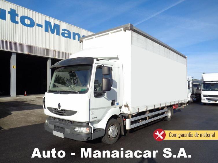 nákladne vozidlo s posuvnou plachtou RENAULT MIDLUM 220 DXi