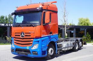 nosič kontajnerov MERCEDES-BENZ Actros 2542 , E6 , 6X2 , BDF , chassis 7,2m , retarder , 2 beds