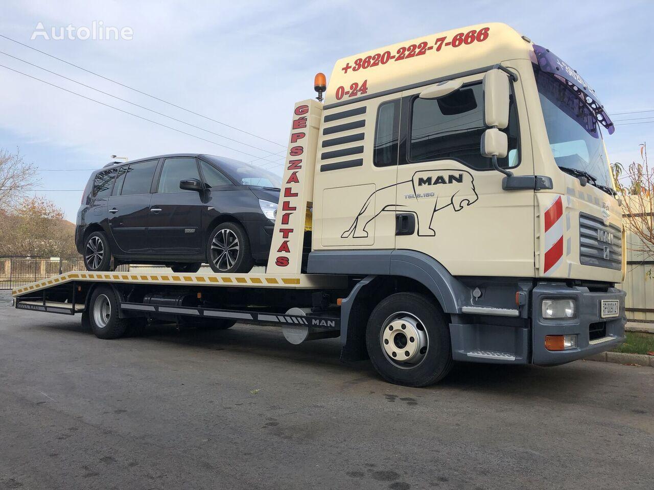 odťahové vozidlo MAN TGL 8.180 12 t. autómentő, gépszállító /