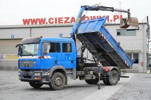 sklápač MAN TGM 18.240 , DOKKA 7 seats , A/C , tipper + crane PK , grapple +