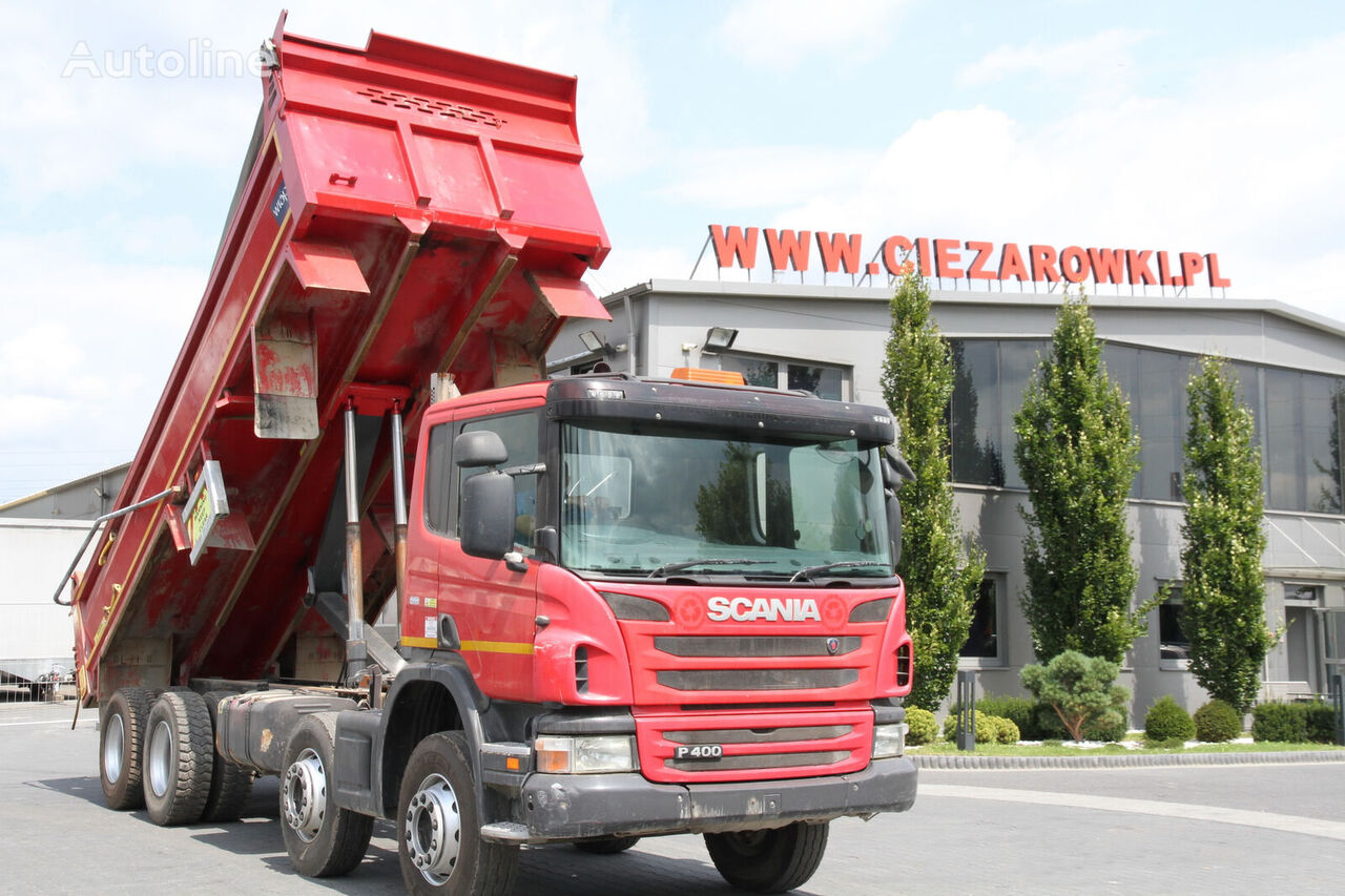 sklápač SCANIA P 400 8X4 TIPPER RIGHT HAND DRIVE
