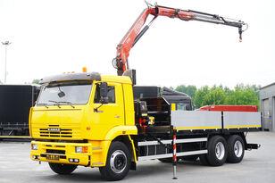 valník KAMAZ 65117 , 6x4 , Crane Fassi 95 , rotator , box 6m