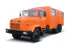 nový vojenský náklaďák KRAZ 65053 мастерская