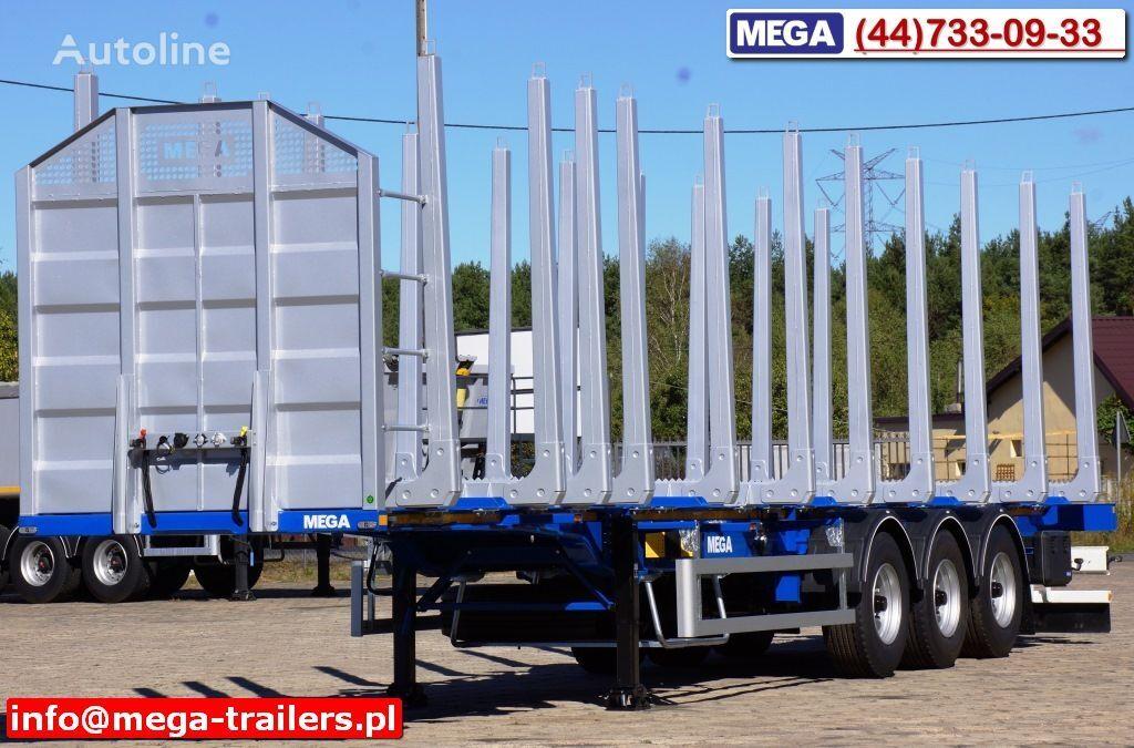 nový náves na prepravu dreva MEGA 10 U STANCHION - TIMBER SEMI-TRAILER/HOLZAUFLIEGER- READY ! BERE