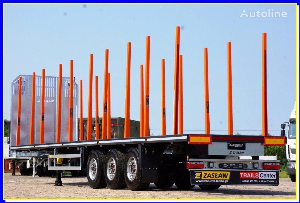 nový náves na prepravu dreva ZASLAW TRAILIS 13.60 m - HolzAuflieger mit Boden / PLATFORM fur 20 Rungen - SOF