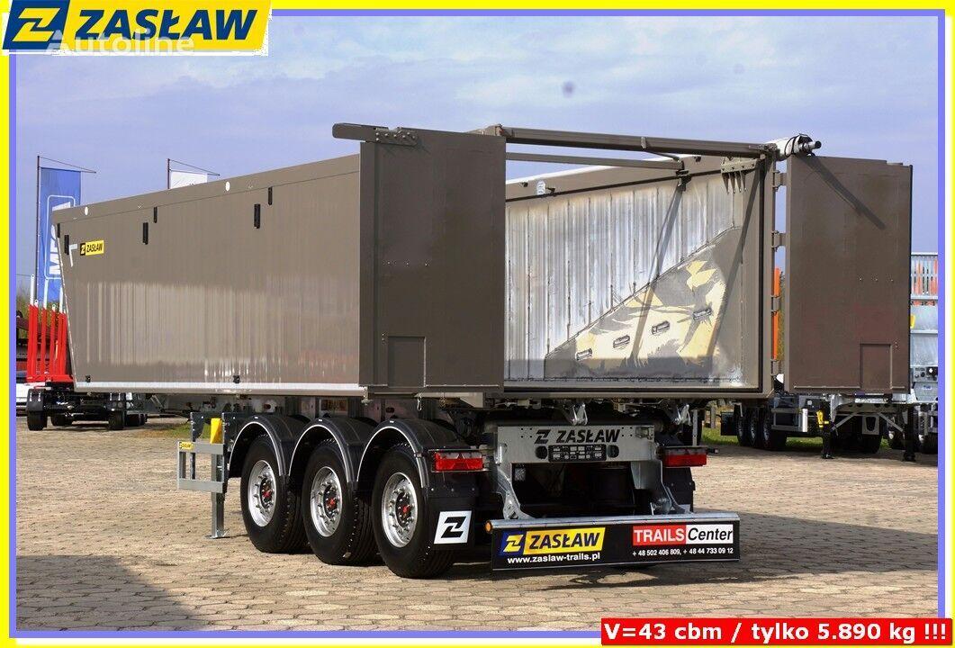 nový náves na prepravu obilia ZASŁAW 43 m³ tipping semi-trailer Light up 5.690 kg ! READY !
