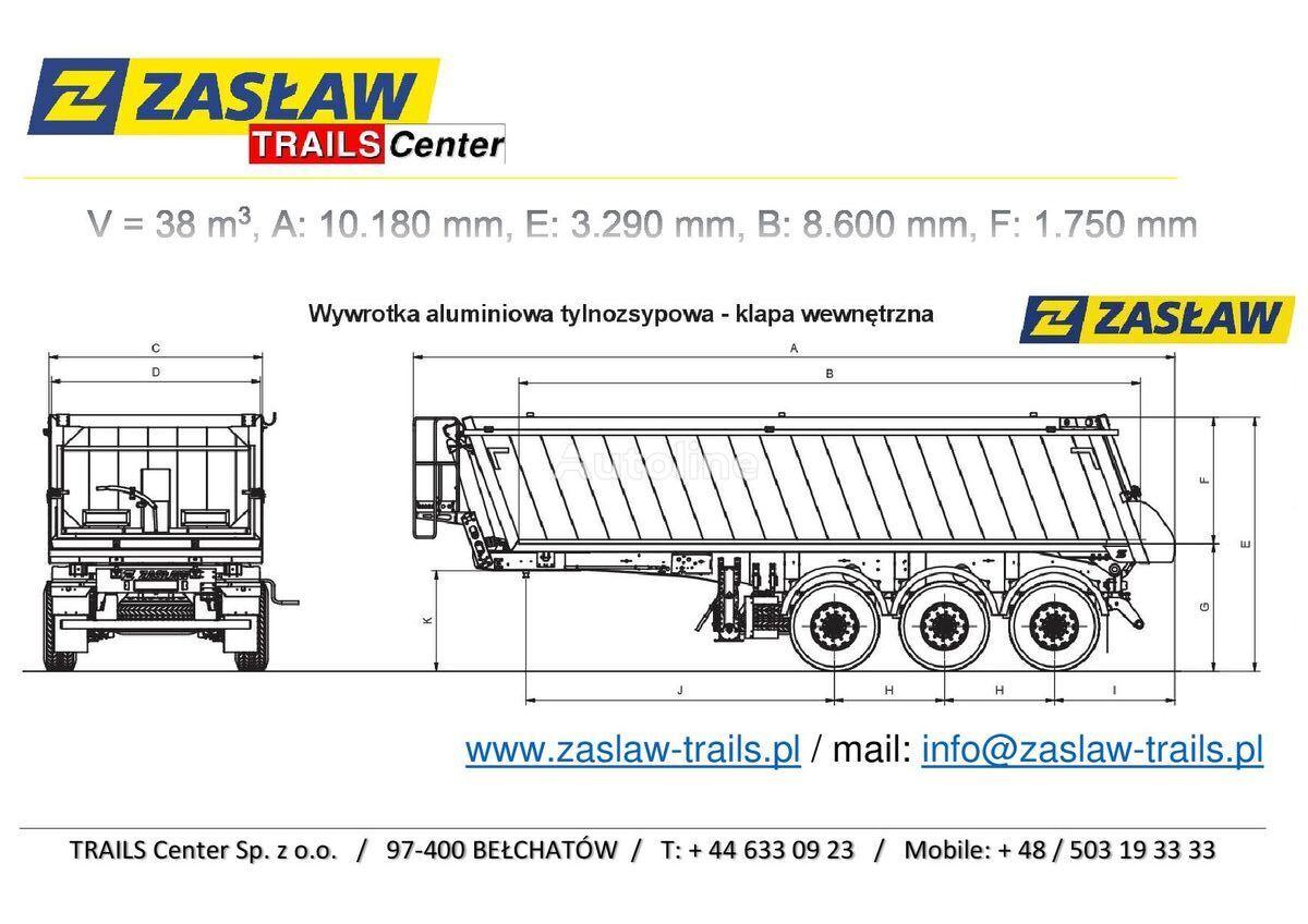 nový sklápěcí návěs ZASLAW TRAILIS 38 m³ naczepa wywrotka LIGHT od 5.390 kg z placu!