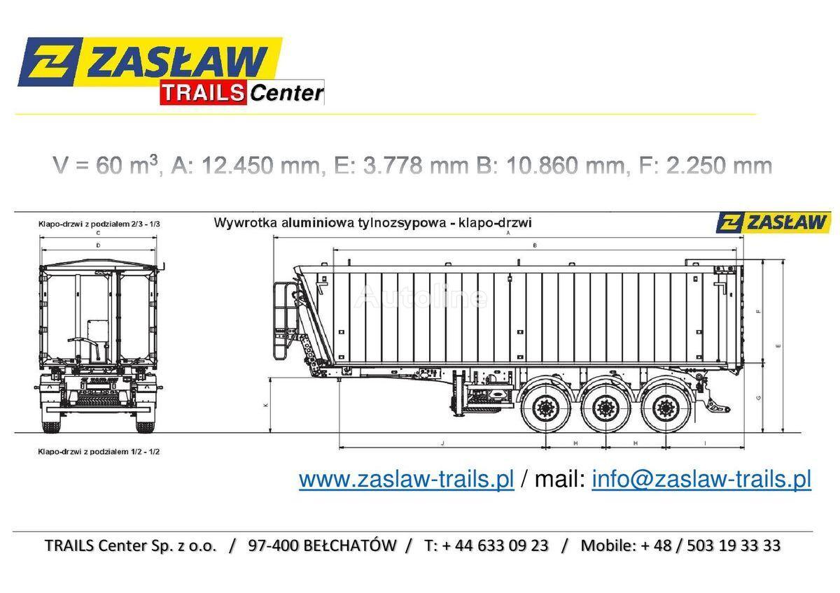 nový sklápěcí návěs ZASLAW TRAILIS 60 m³ naczepa wywrotka Super Lekka od 6290 kg !!