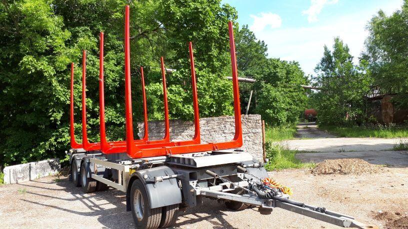 príves na prepravu dreva HFR timber trailer + new bunks and tyres