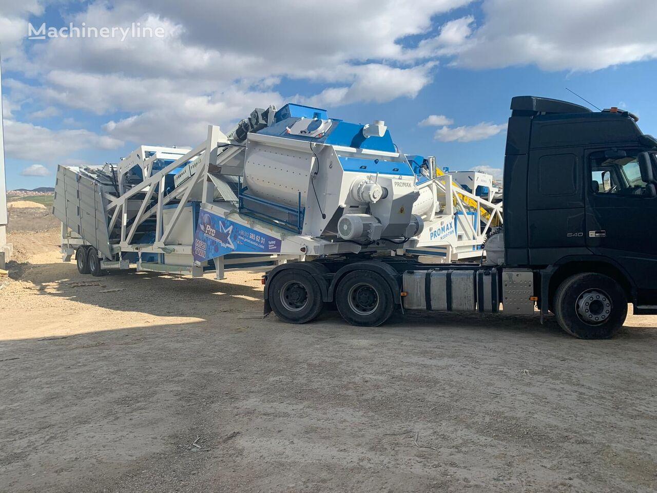 nový betonáreň PROMAX Mobile Concrete Batching Plant M120-TWN (120m3/h)