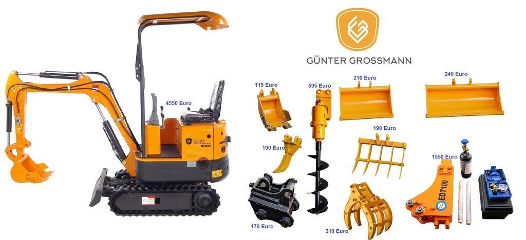 nové minirýpadlo Günter Grossmann  GG800 minikoparka + Akcesoria - Mini koparka